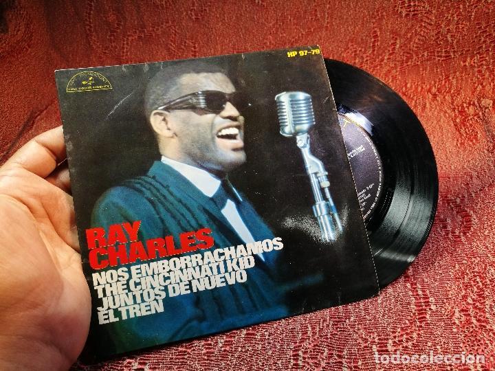 RAY CHARLES -NO EMBORRACHAMOS -Y 3 MAS (Música - Discos de Vinilo - EPs - Jazz, Jazz-Rock, Blues y R&B)