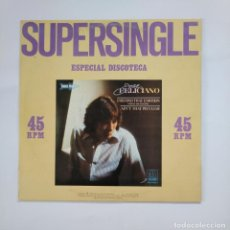 Discos de vinilo: SUPERSINGLE ESPECIAL DISCOTECA. JOSE FELICIANO. I SECOND THAT EMOTION. AIN'T THAT PECULIAR. TDKDA49. Lote 136805810
