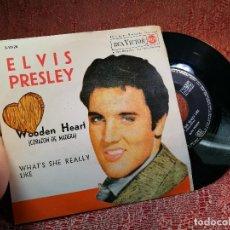 Discos de vinilo: ELVIS PRESLEY.WOODEN HEART.SINGLE.ESPAÑA 1962.RCA VICTOR.3-10126. Lote 136807230