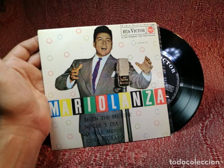 MARIO LANZA - BEGUIN THE BEGUINE / NOCHE Y DIA / O SOLE MIO / CORE INGRATO - RCA-VICTOR - 1962 (Música - Discos de Vinilo - EPs - Clásica, Ópera, Zarzuela y Marchas)