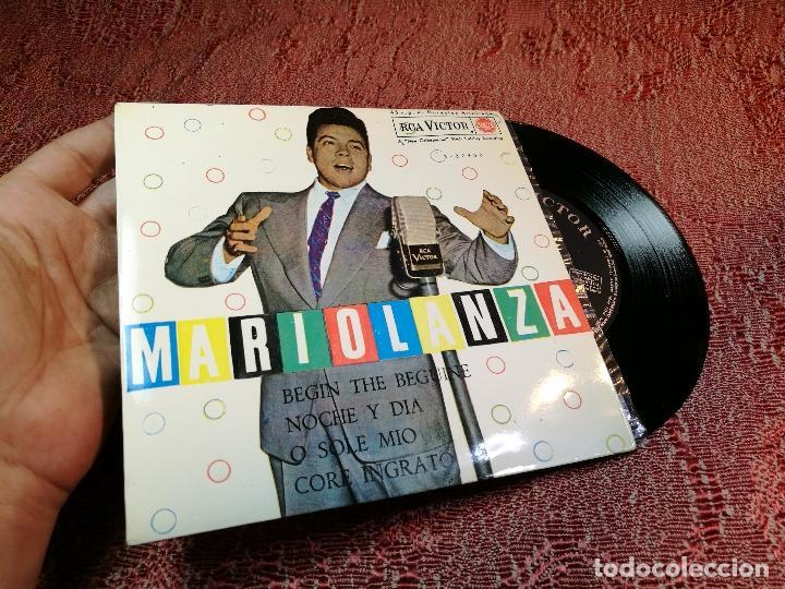 Discos de vinilo: Mario Lanza - Beguin The Beguine / Noche y Dia / O Sole Mio / Core Ingrato - RCA-Victor - 1962 - Foto 2 - 136809058