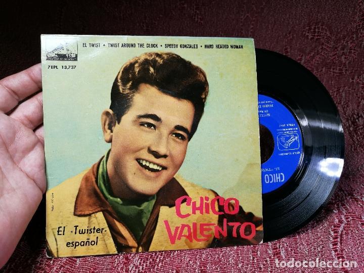 CHICO VALENTO – EL TWIST (H. BALLARD) – EP ORIGINAL SPAIN 1962 – 7EPL 13737 (Música - Discos de Vinilo - EPs - Rock & Roll)