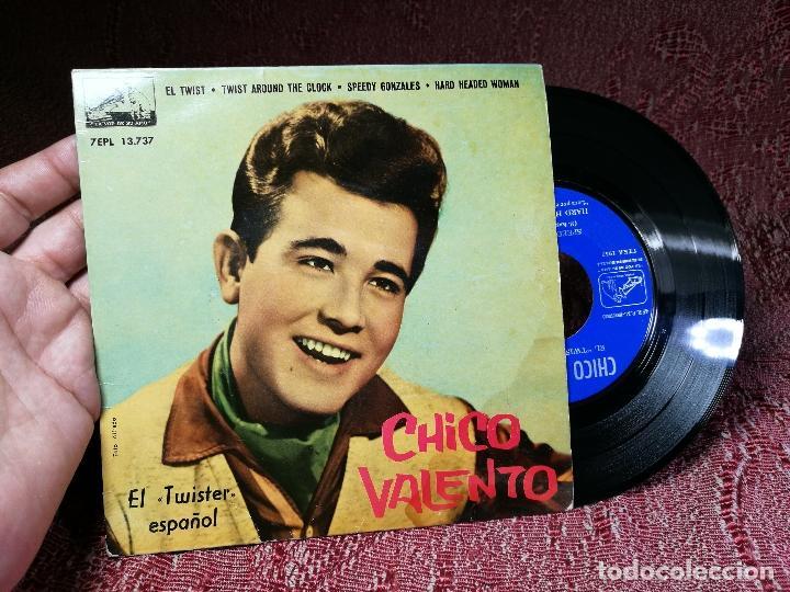 Discos de vinilo: CHICO VALENTO – EL TWIST (H. BALLARD) – EP ORIGINAL SPAIN 1962 – 7EPL 13737 - Foto 2 - 136810766