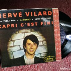 Discos de vinilo: HERVÉ VILARD (EP) 1965 - MERCURY RECORDS (CAPRI C'EST FINI, ON VERRA BIEN, IL MONDO, JOUR DE CHANCE). Lote 136811262