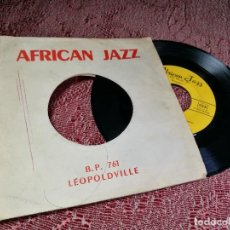 Discos de vinilo: AFRICAN JAZZ-INDEPENDANCE CHA CHA / NA WELY BOBOTO -KABASELLE JOSEPH-LONGOMBA VICKY--FRANCIA AÑOS 50. Lote 136812938