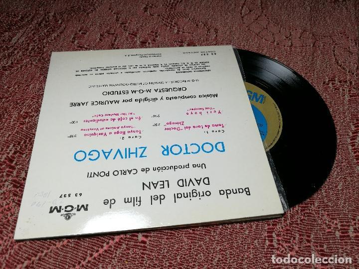 Discos de vinilo: MAURICE JARRE - BANDA ORIGINAL DE LA PELICULA DOCTOR ZHIVAGO - TEMA DE LARA MGM 1966 - Foto 3 - 136813606