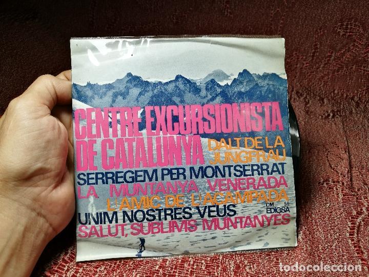 Discos de vinilo: CENTRE EXCURSIONISTA DE CATALUNYA. DALT DE LA JUNGFRAU + 5. - EP EDIGSA 1965 - Foto 2 - 136814114