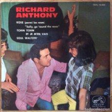 Discos de vinilo: RICHARD ANTHONY EP LA VOZ DE SU AMO SALLY GO ROUND THE ROSES AÑO 1963. Lote 136817410