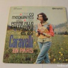 Discos de vinilo: LOTE EP CARAVELLI EN PARIS SELLO DISCOPHON 1963. Lote 136823338