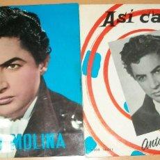 Discos de vinilo: DISCOS (ANTONIO MOLINA) 2 DISCOS. Lote 136870398