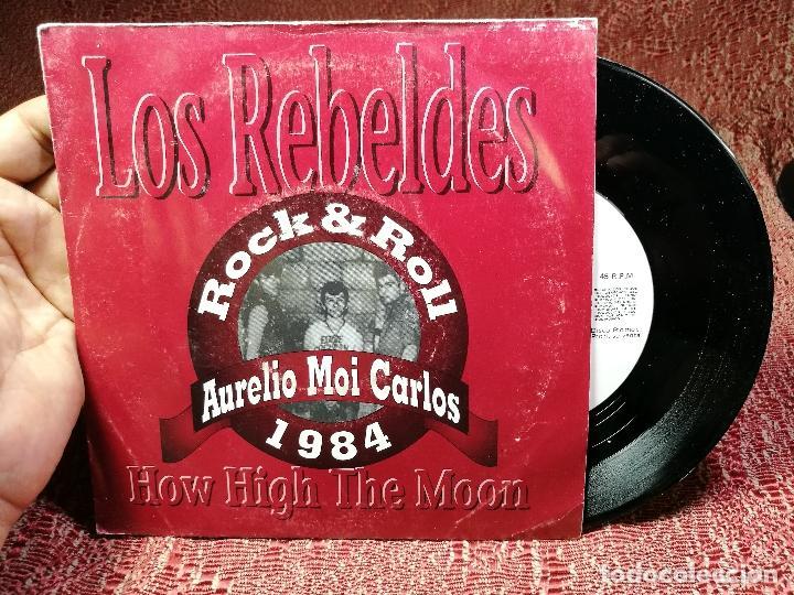REBELDES. HOW HIGH THE MOON. AURELIO MOI CARLOS 1984 URANITA SPAIN 1991 (SINGLE S/SIDED PROMOCIONAL) (Música - Discos de Vinilo - EPs - Grupos Españoles de los 70 y 80)