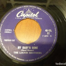 Discos de vinilo: THE LOUVIN BROTHERS ‎– MY BABY'S GONE / LORENE. CAPITOL RECORDS . 1958. 45-ICL37. A RARE EDITION. . Lote 136900922