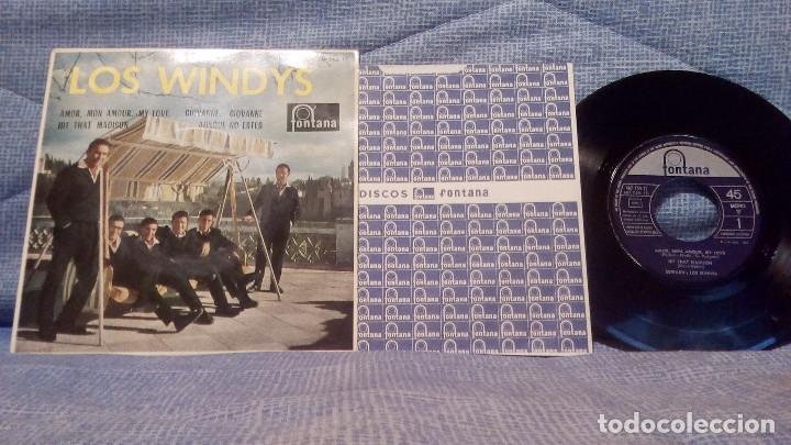 LOS WINDYS - EXTRAORDINARIO Y RARO EP EDICION ESPAÑOLA DEL SELLO FONTANA AÑO 1963 LENGÜETA Y FUNDA (Música - Discos de Vinilo - EPs - Grupos Españoles 50 y 60)
