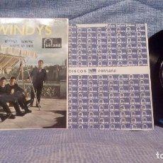 Discos de vinilo: LOS WINDYS - EXTRAORDINARIO Y RARO EP EDICION ESPAÑOLA DEL SELLO FONTANA AÑO 1963 LENGÜETA Y FUNDA. Lote 136929894
