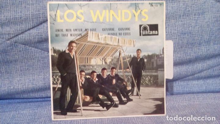 Discos de vinilo: LOS WINDYS - EXTRAORDINARIO Y RARO EP EDICION ESPAÑOLA DEL SELLO FONTANA AÑO 1963 LENGÜETA Y FUNDA - Foto 3 - 136929894