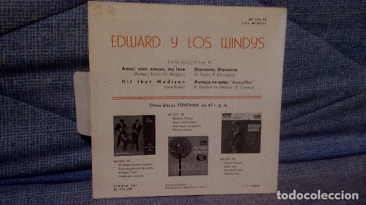 Discos de vinilo: LOS WINDYS - EXTRAORDINARIO Y RARO EP EDICION ESPAÑOLA DEL SELLO FONTANA AÑO 1963 LENGÜETA Y FUNDA - Foto 4 - 136929894