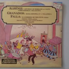 Discos de vinilo: LP ALBÉNIZ-GRANADOS-FALLA. Lote 136880510