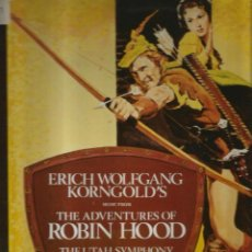 Discos de vinilo: LP BANDA SONORA : ROBIN HOOD ( ROBIN DE LOS BOSQUES ) MUSICA DE ERICH WOLFGANG KORNGOLD . Lote 136982510