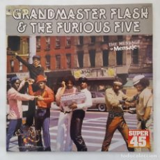 Discos de vinilo: MAXI / GRANDMASTER FLASH & THE FURIOUS FIVE ?– THE MESSAGE = MENSAJE / ZAFIRO OOS-562 / 1982 / PROMO. Lote 136990514