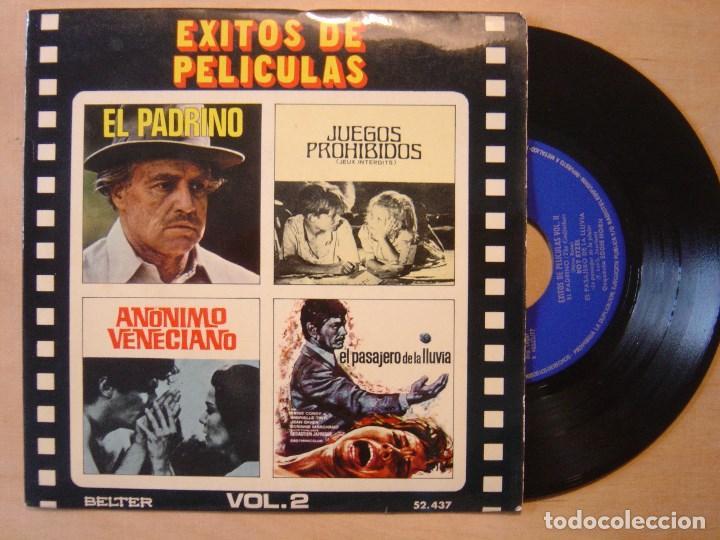 V.A EXITOS DE PELICULAS VOL 2 - EP 1972 - BELTER (Música - Discos de Vinilo - EPs - Bandas Sonoras y Actores)