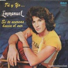 Discos de vinilo: EMMANUEL – TU Y YO - SINGLE PROMO 1982. Lote 137105394