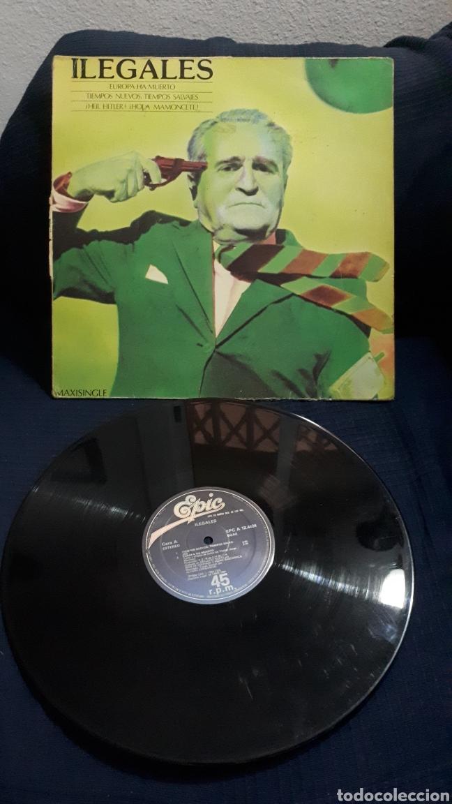 LOS ILEGALES MAXISINGLE EUROPA HA MUERTO (Música - Discos de Vinilo - Maxi Singles - Grupos Españoles de los 70 y 80)