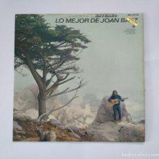 Discos de vinilo: JOAN BAEZ.- LO MEJOR DE JOAN BAEZ.- LP. TDKDA50. Lote 137110690