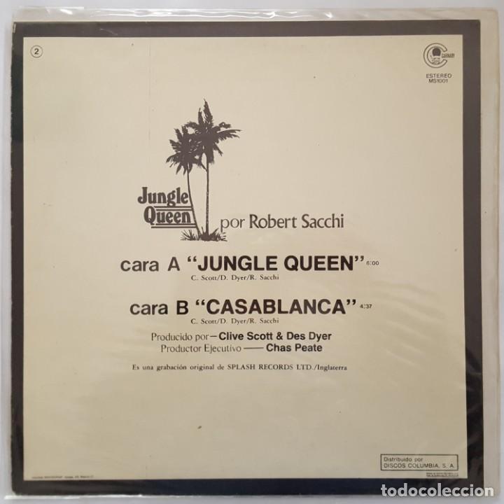 Discos de vinilo: MAXI / ROBERT SACCHI / JUNGLE QUEEN / CARNABY MS-1001 / 1982 / PROMO - Foto 2 - 137112866