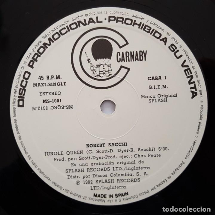 Discos de vinilo: MAXI / ROBERT SACCHI / JUNGLE QUEEN / CARNABY MS-1001 / 1982 / PROMO - Foto 3 - 137112866