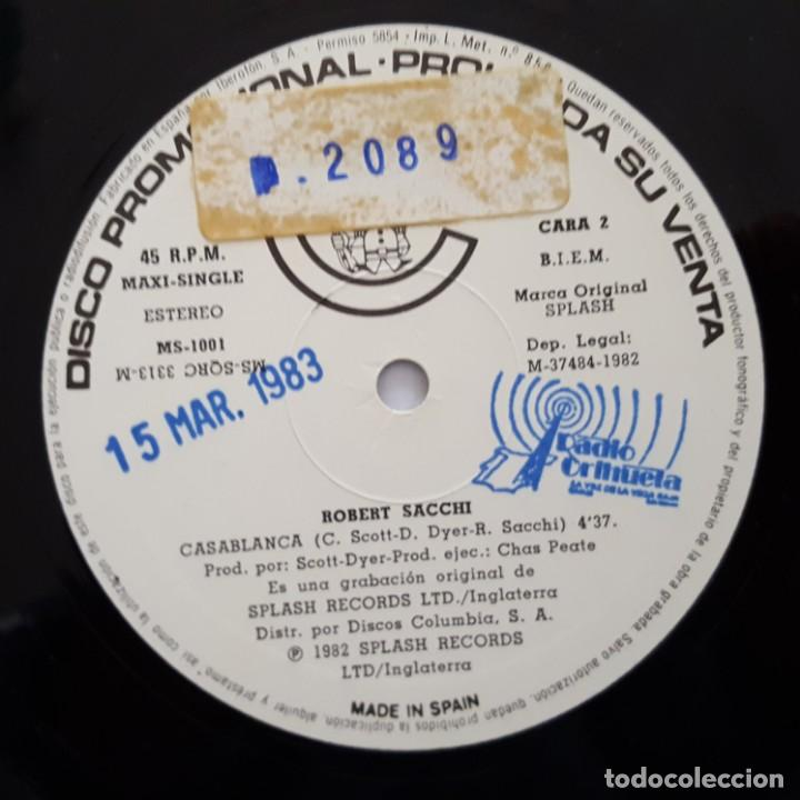 Discos de vinilo: MAXI / ROBERT SACCHI / JUNGLE QUEEN / CARNABY MS-1001 / 1982 / PROMO - Foto 4 - 137112866