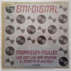 Discos de vinilo: MAXI / MORRISSEY-MULLEN ?– LOVE DON'T LIVE HERE ANYMORE / EMI DIGITAL ?– 10C 052-007055Z/1979/ PROMO. Lote 137113390