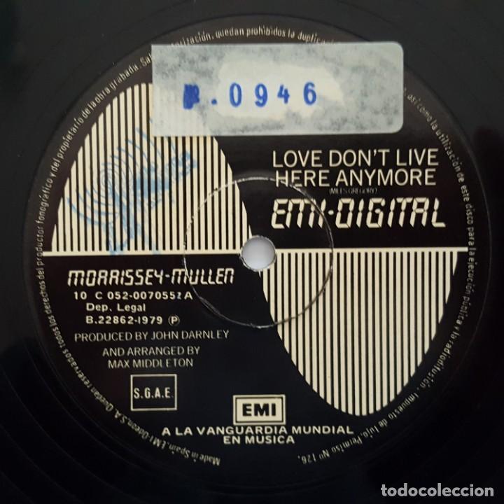 Discos de vinilo: MAXI / Morrissey-Mullen ?– Love Dont Live Here Anymore / EMI Digital ?– 10C 052-007055Z/1979/ PROMO - Foto 3 - 137113390