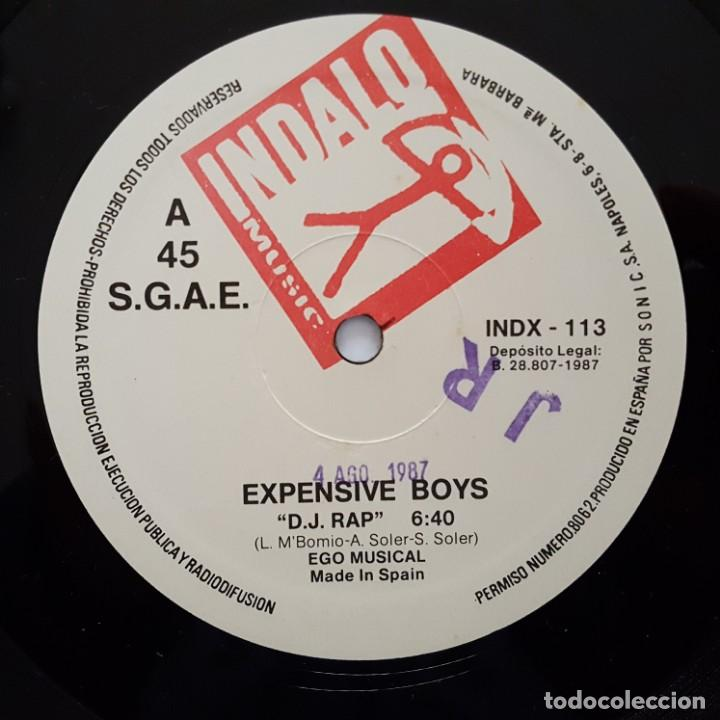 Discos de vinilo: MAXI / EXPENSIVE BOYS / D.J. RAP / INDALO MUSIC INDX-113 / 1987 - Foto 3 - 137119614