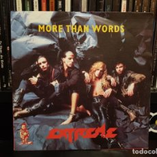 Discos de vinilo: EXTREME - MORE THAN WORDS. Lote 137132938
