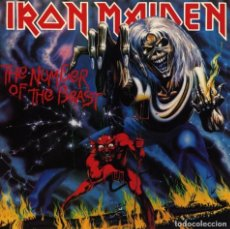 Discos de vinilo: LP IRON MAIDEN THE NUMBER OF THE BEAST VINILO NWOBHV HEAVY METAL. Lote 137134514