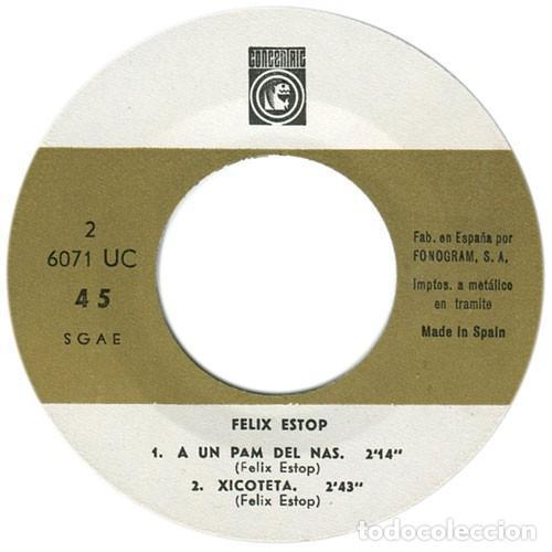 Discos de vinilo: FÈLIX ESTOP - Amor damo + 3 Canciones - EP (Concèntric, 1968) NUEVO A ESTRENAR - Foto 4 - 137153782