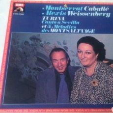 Discos de vinilo: MONTSERRAT CABALLÉ, ALEXIS WEISSENBERG. TURINA.1980. Lote 137175574