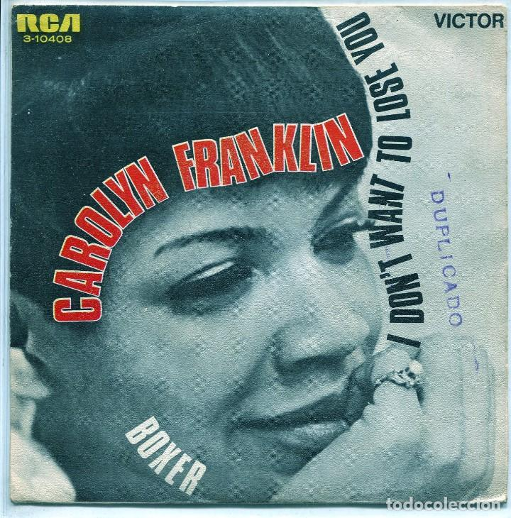 CAROLYN FRANKLIN / I DON'T WANT TO LOSE YOU / BOXER (SINGLE PROMO 1969) segunda mano