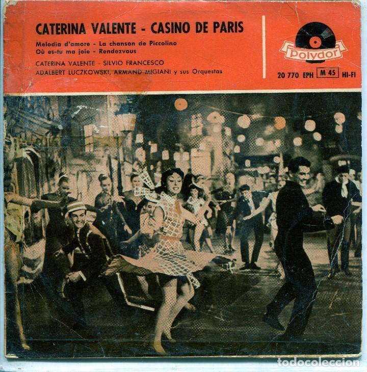 CATERINA VALENTE (CANCIONES DE LA PELICULA CASINO DE PARIS) EP 1959 segunda mano