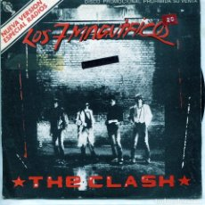 Discos de vinilo: THE CLASH / LOS SIETE MAGNIFICOS / THE MAGNIFICENT DANCE (SINGLE PROMO LABEL BLANCO 1980). Lote 137185002
