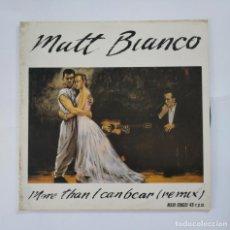 Discos de vinilo: MATT BIANCO, MORE THAN I CAN BEAR. MAXI SINGLE. TDKDA51. Lote 137193194