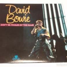 Discos de vinilo: DAVID BOWIE ( DON'T BE FOOLED BY THE NAME ) ENGLAND-1981 LP33/10'' PRT. Lote 137196562