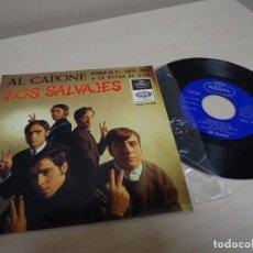 Discos de vinilo: LOS SALVAJES -PIENSO EN TI -EP DE 4 CANCIONES -AÑO 1966-REGAL -BARCELONA. Lote 137204886