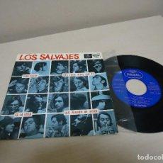 Discos de vinilo: LOS SALVAJES -TODO NEGRO -EP DE 4 CANCIONES -REGAL-AÑO 1966-BCN . Lote 137205318