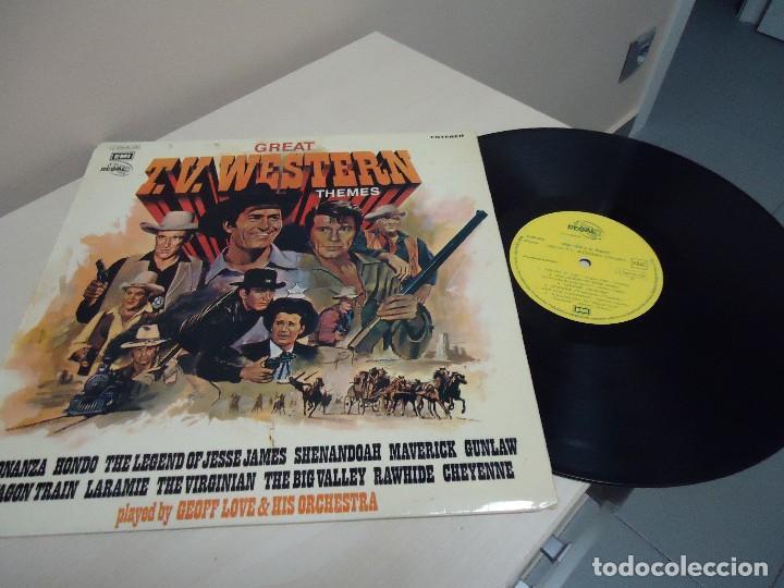 GREAT TV .WESTERS N THEMES - BONANZA -EMI ODEON - GEOFF LOVE HIS ORCHESTRA-1972- SPAIN (Música - Discos - LP Vinilo - Bandas Sonoras y Música de Actores )