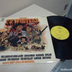 Discos de vinilo: GREAT TV .WESTERS N THEMES - BONANZA -EMI ODEON - GEOFF LOVE HIS ORCHESTRA-1972- SPAIN . Lote 137226498