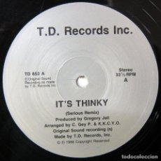 Discos de vinilo: GREGORY JAIL - IT'S THINKY, SERIOUS REMIX - 1988 - HIP HOP. BREAKS. Lote 137230562
