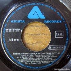 Discos de vinilo: JOHN WILLIAMS - CLOSE ENCOUNTERS THIRD KIND - ENCUENTROS TERCERA FASE - 1978 - PROMO. Lote 137232722