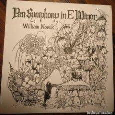 Discos de vinilo: WILLIAM NOWIK . PAN SYMPHONY LP US FOLK PSYCH . Lote 137241026
