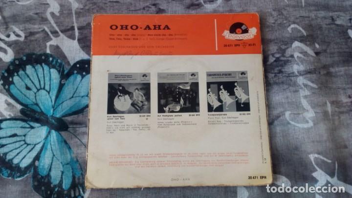 Discos de vinilo: Orchester Kurt Edelhagen – Oho-Aha - Polydor – 20 471 EPH - 1959 - Foto 2 - 137258506